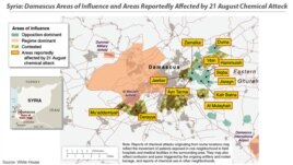 MAP: Areas affected by Aug. 21 chemical attack, Damascus