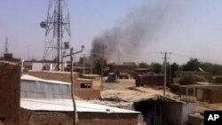 آتش سوزی رادیو تلویزیون روشنی بعد از تسلط طالبان در شهر کندز