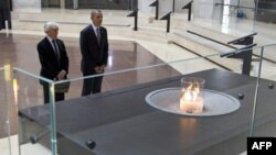 Барак Обама в Мемориальном музее Холокоста в Вашингтоне