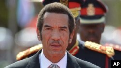 Former president of Botswana Ian Khama.