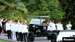 新加坡仪仗队护送李光耀前总理的灵柩