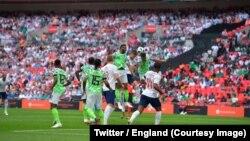 L'Angleterre a battu le Nigeria 2-1 en match de préparation au Mondial-2018 en Russie, à Londres, 2 mai 2018. (Twitter/England).