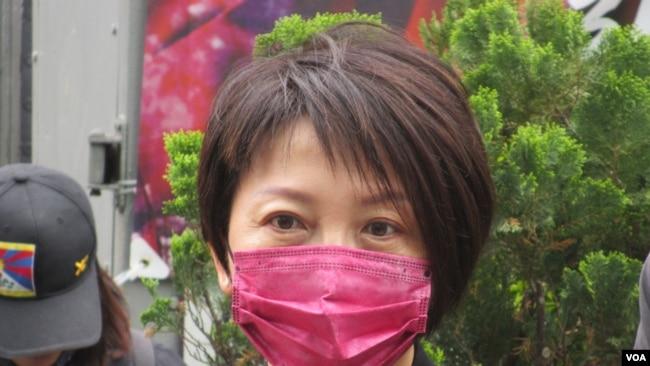 台湾执政党民进党立委范云(美国之音张永泰拍摄)