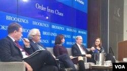 """华盛顿布鲁金斯学会星期五发布新报告""""打造实力现实--美国新的国家安全战略"""" ,并就此举行研讨会。(美国之音斯洋)"""