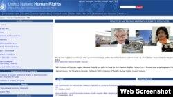 联合国人权理事会网站截屏