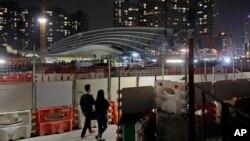 建设中的香港西九龙高铁站