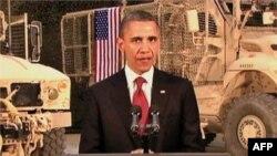 Президент Барак Обама промовляє до американського народу з військової бази США в Афганістані