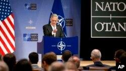 سخنرانی جیم متیس وزیر دفاع ایالات متحده در نشست وزیران دفاع کشورهای عضو ناتو در بروکسل - ۹ نوامبر ۲۰۱۷