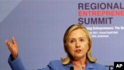U.S. Secretary of State Hillary Clinton at the Regional Entrepreneurship Summit