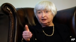 FILE - U.S. Fed Chair Janet Yellen.