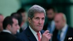 Le secrétaire d'Etat américain John Kerry au sommet de l'OTAN à Antalya, en Turquie (AP Photo/Lefteris Pitarakis)