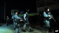 پولیس کابل در حال عملیات
