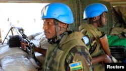 Abasirikare bava mu Rwanda bari mu nteko zijejwe gucungera umutekano z'ishirahamwe O-N-U muri Sudani yo mu bumanuko