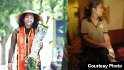 Bà Bùi Thị Minh Hằng trước và sau 5 tháng tù đầu tiên. Thượng nghị sĩ Bill Cassidy đã gửi thư thẳng vào trại giam cho bà Minh Hằng vào ngày 9/9/2015.