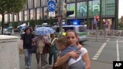 فرار مردم از مرکز بزرگ خریداری شهر مونشن