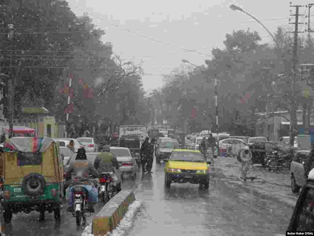 کوئٹہ میں بارش کا ایک منظر