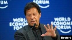 عمران خان سوٹرزلینڈ کے شہر ڈیووس میں عالمی اقتصادی فورم اجلاس سے خطاب۔
