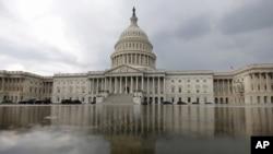 Điện Capitol, nơi diễn ra các cuộc biểu quyết về thỏa thuận hạt nhân Iran do đảng Cộng hòa kiểm soát. (AP Photo/Carolyn Kaster)