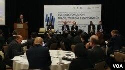 Forum Bisnis Perdagangan Pariwisata dan Investasi Indonesia-AS di kota New York, 18 November 2019.