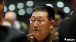 朝鲜人民武力省副相金亨龙2018年10月25日出席香山论坛(路透社)