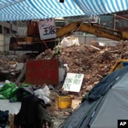 王家祖宅被拆现场