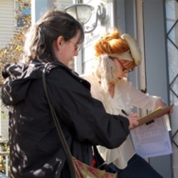 Collecting petition signatures the traditional way