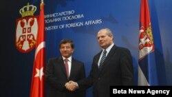 Ministri spoljnih poslova Srbije i Turske Ivan Mrkić i Ahmet Davutoglu.