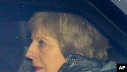 La première ministre britannique, Theresa May, arrive au Parlement, à Londres, le 12 mars 2019.
