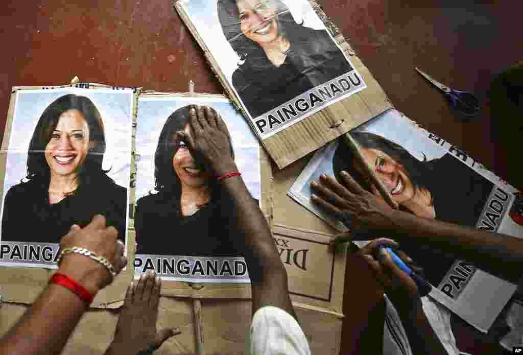 Hindistonliklar Kamala Harrisni vitse-prezident bo'lishini istaydi. Ayol muhojirlarning Amerikada voyaga yetgan avlodlaridan, onasi hindistonlik. Tamil Nadu shtati.