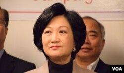 香港前保安局局長、行政會議成員葉劉淑儀。(美國之音湯惠芸)