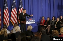U.S. Republican presidential candidate John Kasich attends a campaign event at the Women's National Republican Club in the Manhattan borough of New York, April 12, 2016.