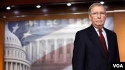 Pemimpin mayoritas Senat, Mitch McConnell, tokoh partai Republik dari negara bagian Kentucky.