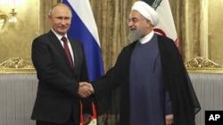 Hai tổng thống Nga và Iran gặp nhau hôm 1/11.