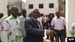Pascal Tsaty Mabiala (43 G), mokambi ya UPADS (Union Panafricaine pour la Démocratie Sociale) na Brazzaville, Congo, 31 janvier 2016.