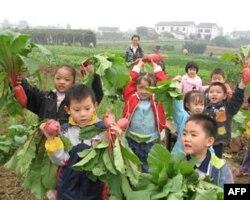 中国四川农家孩子