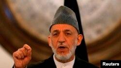 کرزی گفته است که افغانها به تجاوز خارجی پاسخ سزاوار می دهند