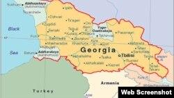 Gürcüstanın xəritəsi