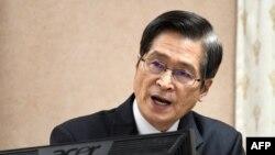 台灣國防部部長嚴德發。