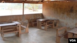 A school classroom in the Asante region of Ghana (Jim Hecimovich for VOA).