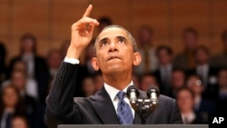 Tingkat dukungan publik AS terhadap Presiden Barack Obama menjadi 45 persen, merupakan yang terendah dalam satu setengah tahun terakhir (foto: dok).