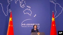 화춘잉 중국 외교부 대변인.