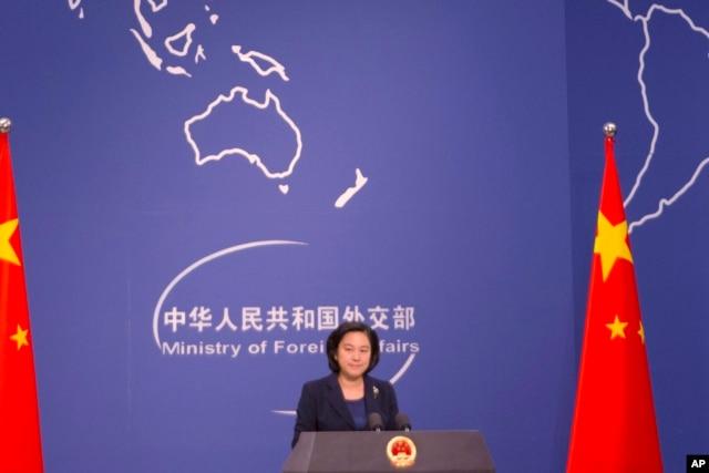 Phát Ngôn viên Bộ Ngoại giao Trung Quốc Hoa Xuân Oánh không bình luận về lý do khiến Hà Nội muốn dỡ bỏ lệnh cấm vận vũ khí.