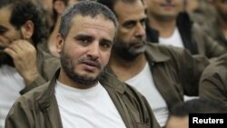 Ahmed Daqamseh, a Jordanian soldier convicted of killing seven Israeli schoolgirls, March 13, 1997, is seen at Um Alluol prison in Mafraq, Jordan, Aug. 7, 2012.