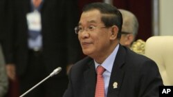 Cambodian Prime Minister Hun Sen (2012 file photo)