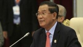 Cambodian Prime Minister Hun Sen (2012 file photo)