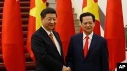 中國國家主席習近平周五與越南國家主席張晉創舉行會談後訪問結束。