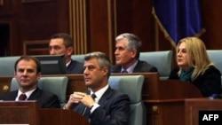 Kosovski premijer Hašim Tači u skupštini Kosova (arhivski snimak)