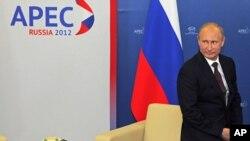 Tổng thống Nga Vladimir Putin tại hội nghị thượng đỉnh APEC ở Vladivostok, 7/9/2012