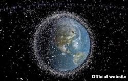 ESA Image Space Debris