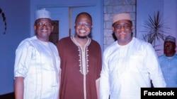 Matawalle, hagu, Pantami, tsakiya da Fani-Kayode a dama (Facebook/Fani-Kayode/ Onevoiceafrica)